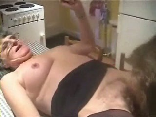 Amateur Glasses Hairy Homemade Kitchen Licking