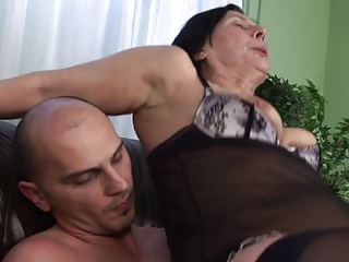 Lingerie Mom Old And Young Riding