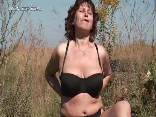 Amateur Big Tits Lingerie Natural Outdoor