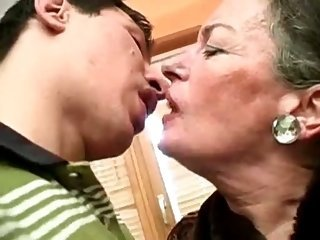 Kissing Mom Old And Young