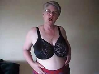 Amateur Glasses Homemade Lingerie Stripper