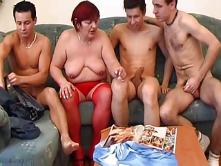 Gangbang Mom Old And Young Redhead  Stockings