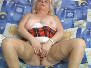 Amateur Chubby Masturbating  Solo Stockings