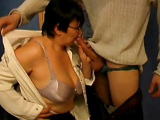 Big Cock Big Tits Blowjob Glasses Lingerie Mom Natural Old And Young Teacher