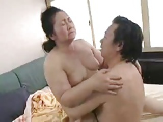 Asian Brunette Chubby Japanese Mom Old And Young