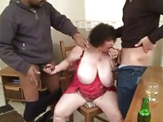 Big Tits Blowjob European French Interracial Natural Old And Young  Threesome