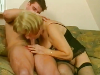 Blowjob Lingerie Mom Old And Young Stockings Vintage