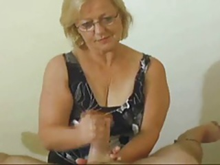 Amateur Glasses Handjob Pov