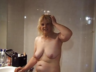 Amateur Bathroom Blonde European French
