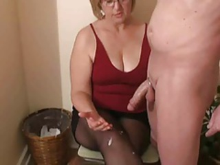 Amateur Big Cock  Chubby Cumshot Handjob Mature Wife