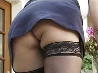 Ass European French Stockings Upskirt