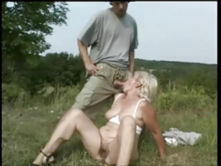 Blowjob Hairy Mom Old And Young Outdoor