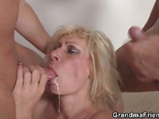 Blowjob Cumshot European Mom Old And Young Swallow Threesome