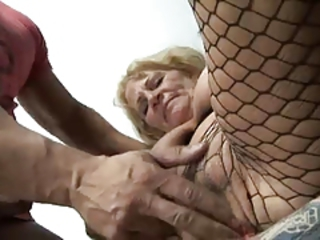 Close up Fishnet Fisting