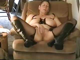 Amateur Big Tits Homemade Masturbating Natural Stockings