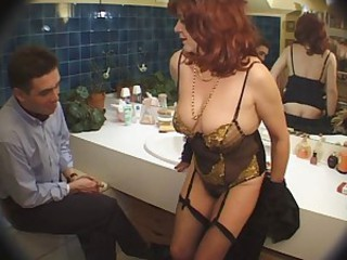 European French Lingerie  Stockings Stripper