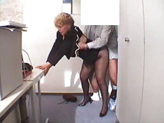 Clothed Doggystyle Glasses Hardcore Office Pantyhose Secretary