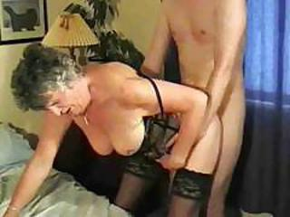 Doggystyle Lingerie Mom Old And Young Stockings