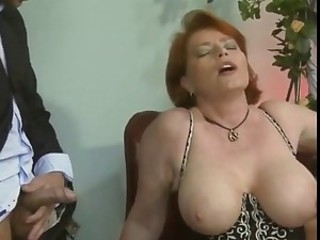 Big Tits European German Mature Natural Redhead