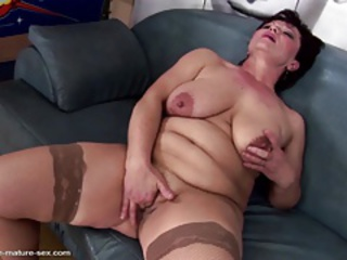 Big Tits Mature Natural  Stockings