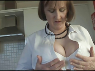 Big Tits Kitchen Lingerie Natural Stripper