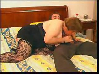 Amateur Blowjob Chubby Clothed Mom Old And Young Stockings