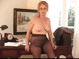Glasses Office Pantyhose Secretary Solo