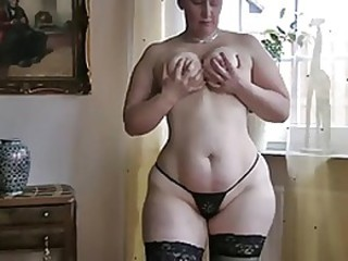 Big Tits Chubby Mature Natural Panty Stockings