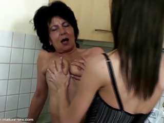 Kitchen Lesbian Old And Young