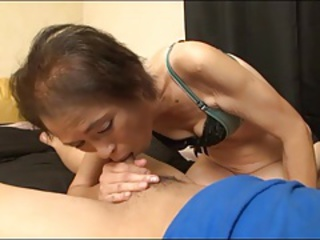 Asian Blowjob Mom Old And Young Skinny Small Cock Small Tits