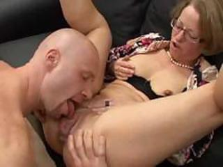 Glasses Licking Mature Pussy Wife