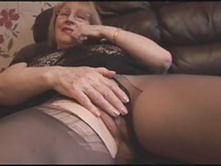 Glasses Masturbating Pantyhose Solo