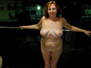 Amateur Natural Outdoor Public Redhead  Wife