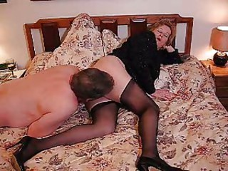 Licking Older Stockings Wife