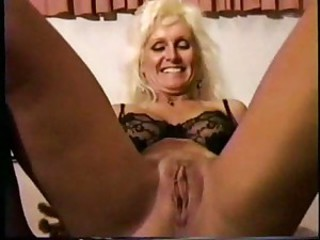Blonde Lingerie Pussy