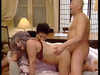 Doggystyle Older Threesome Wife