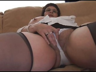 Amateur  Glasses Masturbating Wife
