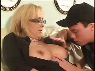 Big Tits Blonde Glasses Mature Mom Natural Nipples Old And Young