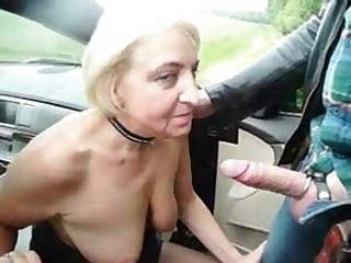 Big Cock Blowjob Car