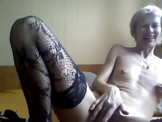 Amateur Homemade Masturbating Skinny Small Tits Stockings