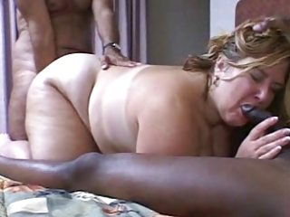 Amateur  Blowjob Interracial Mature Threesome