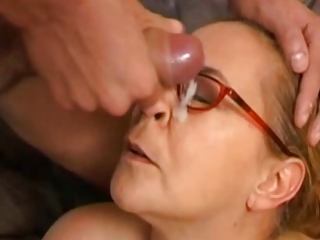 Cumshot Facial Glasses