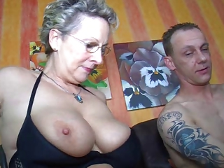 Big Tits European German Glasses Mom Natural Old And Young