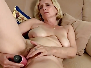 Blonde Dildo Masturbating Mom  Solo Toy