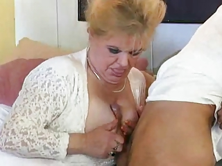 European German Mom Old And Young Tits Job