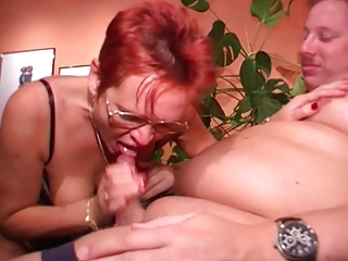 Blowjob European German Glasses Redhead Wife