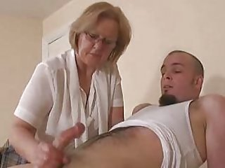 Glasses Handjob Mom Old And Young Teacher