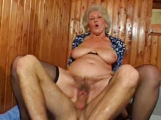 Hairy Hardcore Mom Natural Old And Young Riding  Stockings