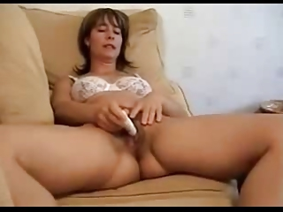 Amateur Homemade Lingerie Masturbating Mature Solo Toy