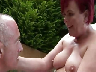 Older Outdoor Redhead Wife
